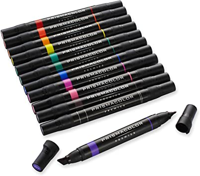 Prismacolor Premier Art Markers Double Ended Set of 12 Primary//Secondary Colors