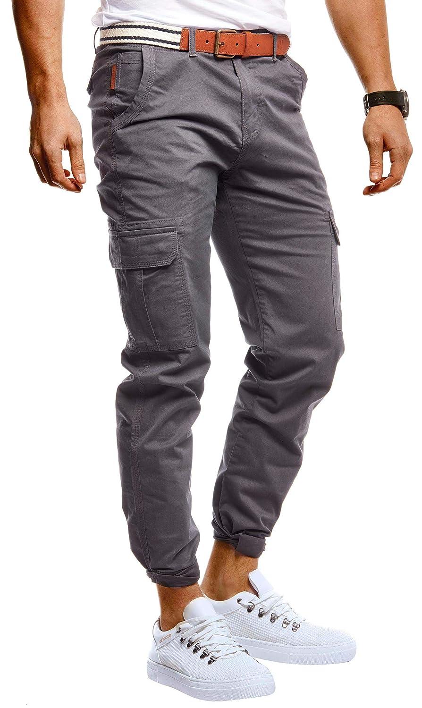 Leif Nelson LN9480 Colore: Nero Pantaloni Chino Stretch da Uomo con Cintura