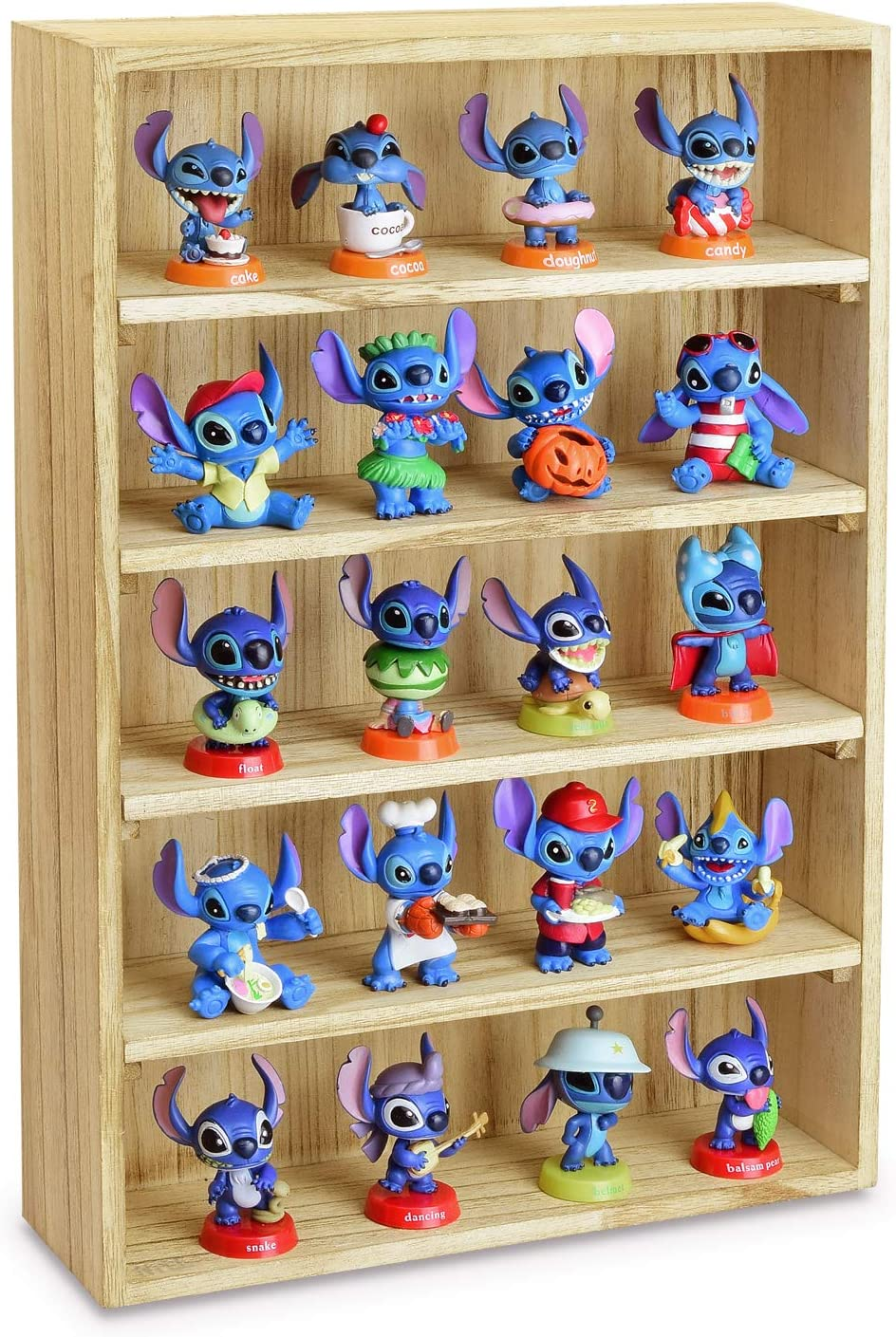 Ikee Design Wooden Wall-Mounted Display Shelves Rack for Figures, Shot Glasses, Spice Can or Collection, 11