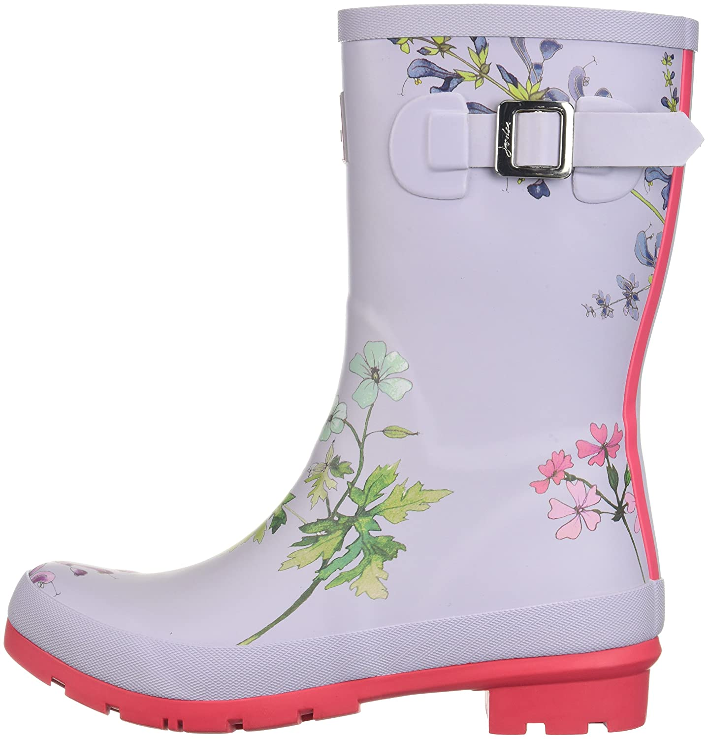 Joules Women's Mollywelly Rain Boot B073XJFLCY 10 B(M) US|Silver Botanical