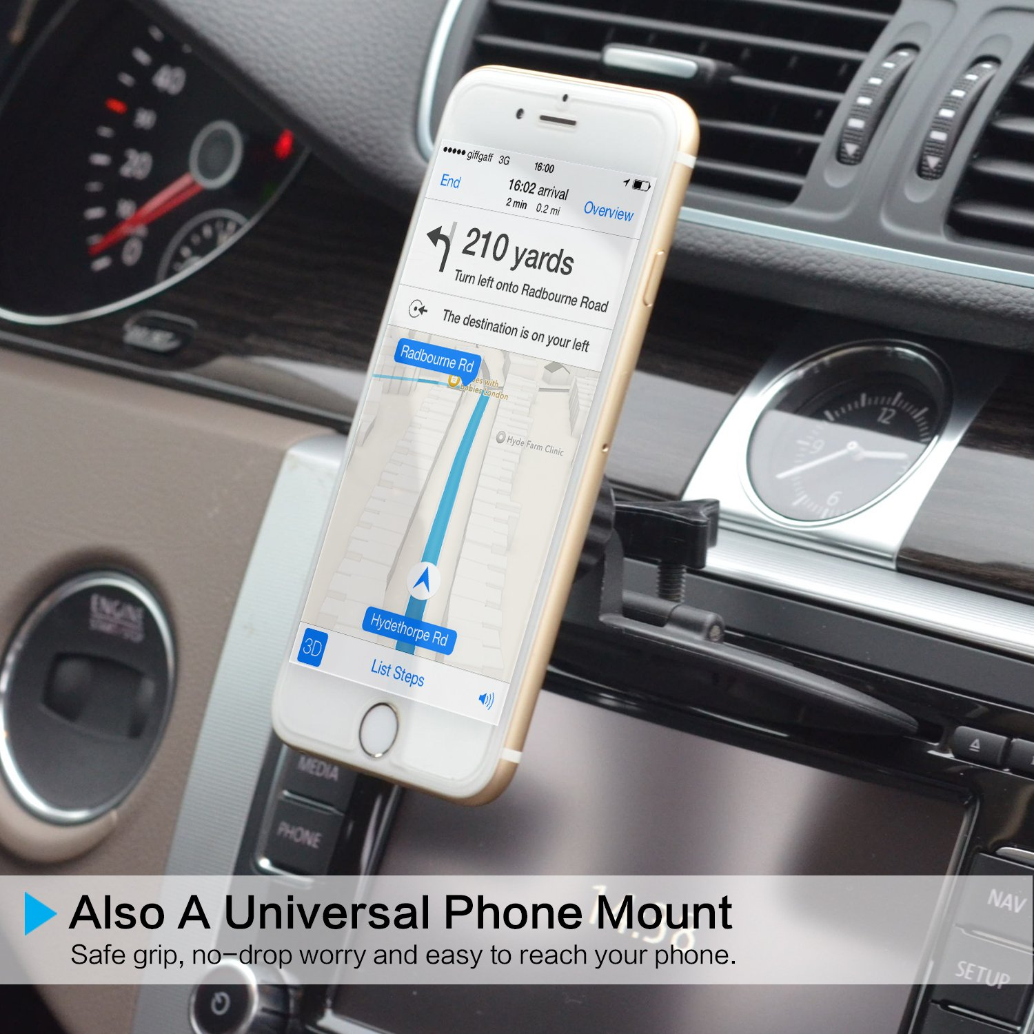 Universal Magnetic Car Mount 3 In 1 Cd Slot Tablet Ipad Mini Dash 2003 Chevy Silverado Compatible With 7 9 Inch Player Cell Phone Holder Tray Gps
