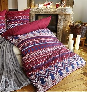 My Home Biber Bettwäsche Set 2tlg Wenda Im Winterlichen Karo