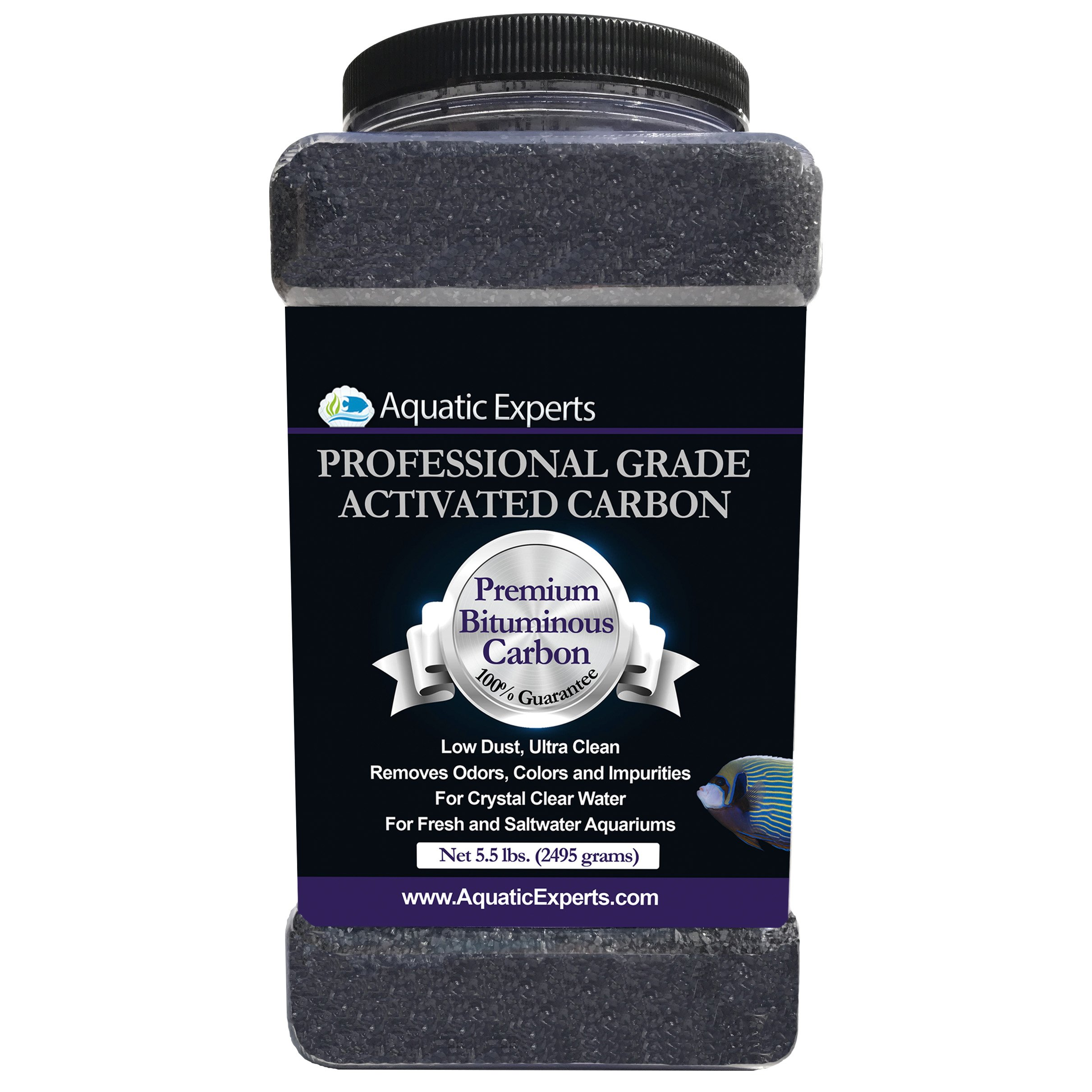 Aquatic Experts Premium Activated Carbon - Aquarium Filter Charcoal Media with Fine Mesh Bag - 5.5 lbs Bulk - Remove Odors and Discoloration with Bituminous Coal by Aquatic Experts