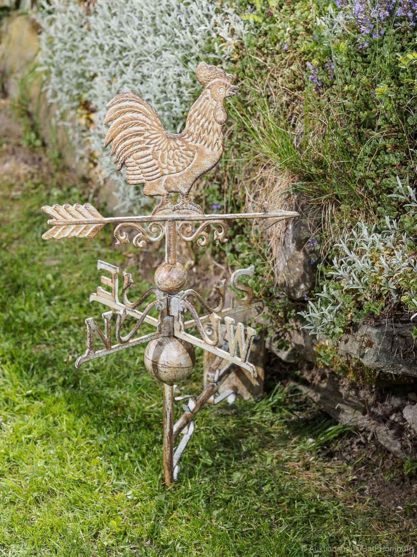 Nostalgie Wand Wetterhahn Hexe Garten Dekoration Windrad Eisen Wetterfahne grün