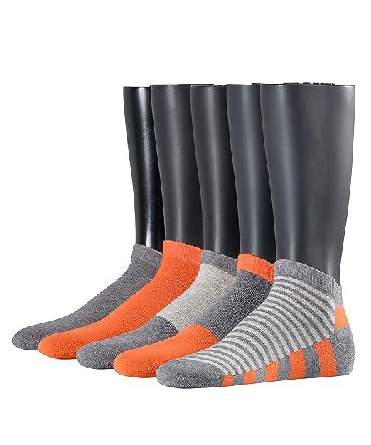 ESPRIT Herren Block Stripe Mix Sneaker Socken 5er Pack 5 Paar, Größe 40 46, versch. Farben, Baumwollmischung Multipack aus atmungsakitver, weicher