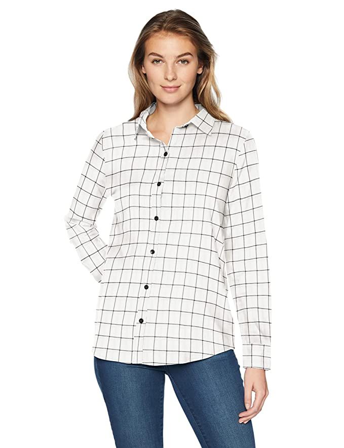 Amazon Essentials Long-sleeve Classic-fit Lightweight Plaid Flannel Shirt, Camisa de Manga Larga para Mujer