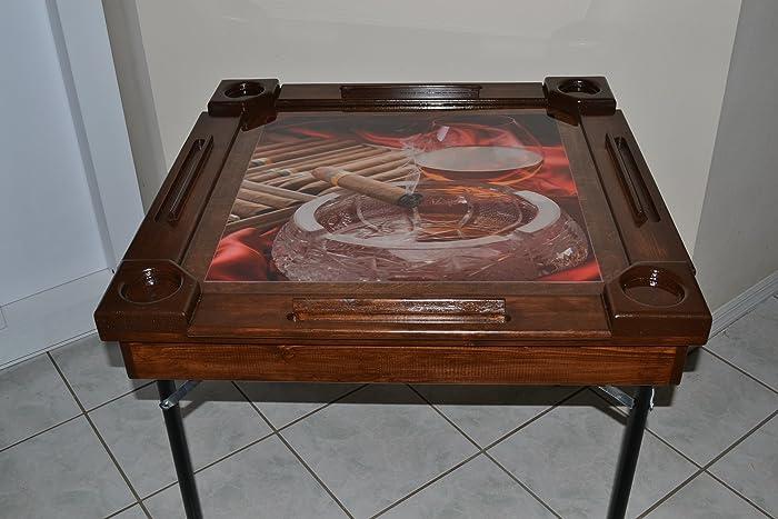 Wooden/wood Dominoes/domino Table/mesa Custom Made Cigar/Tabaco