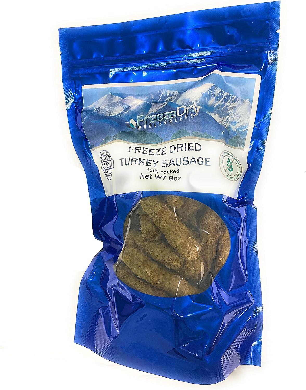 Freeze Dried Breakfast Turkey Sausage   Backpacking & Camping Food   Gluten-Free   Emergency Foods