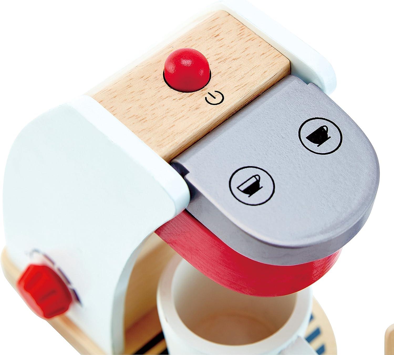 White Hape My Coffee Machine Wooden Play Kitchen Set with Accessories
