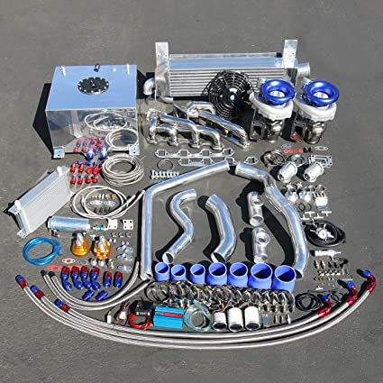 For Ford Mustang 5 0 V8 High Performance 26pcs T04E Twin Turbo Upgrade  Installation Kit