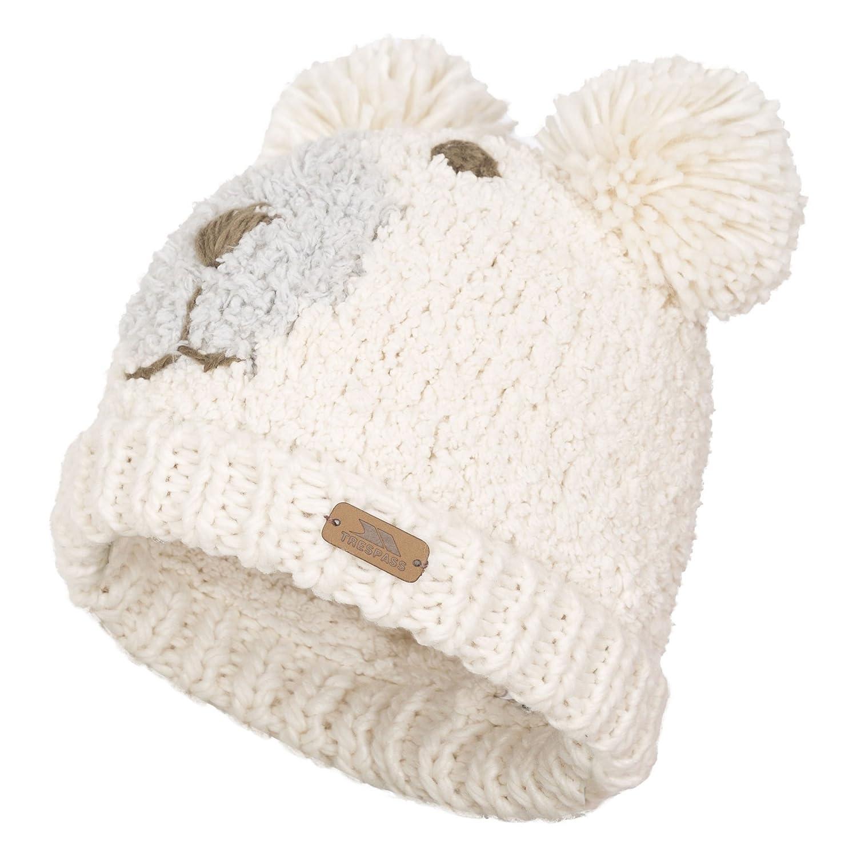 Trespass Womens Ladies Polar Bear Winter Pom Pom Hat (One Size) (Vanilla)  at Amazon Women s Clothing store  c70ae89b59f