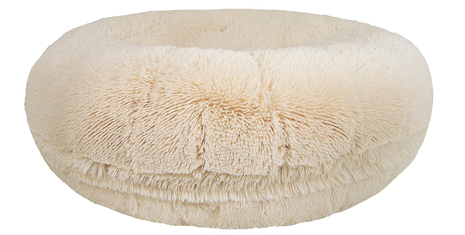 Large BESSIE AND BARNIE 42  Bagel Bed for Pets, Large, Blondie
