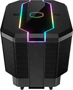 Cooler Master MasterAir MA620M Dual Tower Addressable RGB High Performance CPU Air Cooler w/ 6 Continuous Direct Contact 2.0 Heatpipes, SF120R 120mm Fan, Hexagon Logo, Embedded Addressable RGB Lightin
