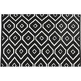 Flamant Hadjar 5'X7' Handwoven Cotton Rug, Black