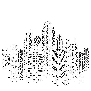Amazon Com Skyscraper Stencil