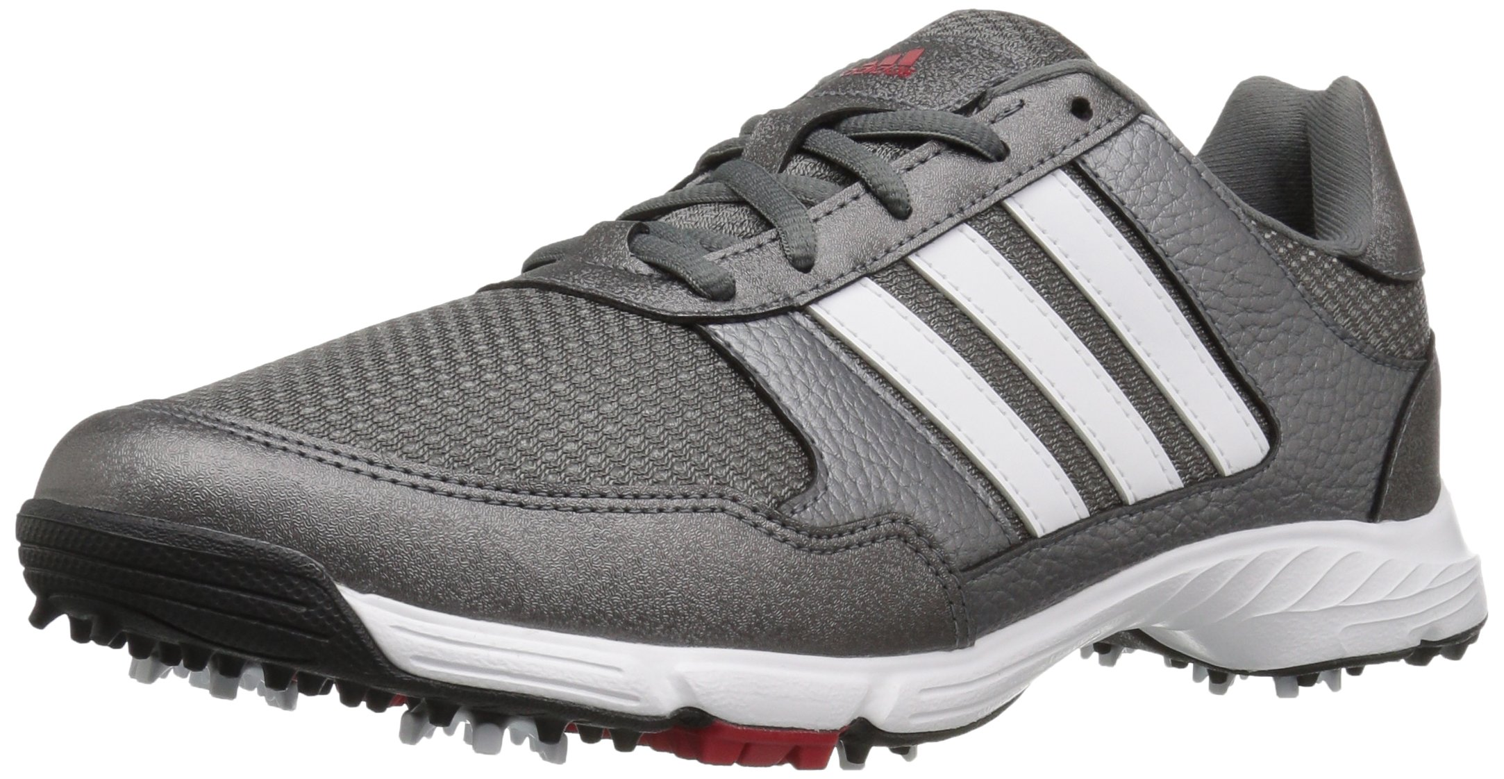 adidas Men's Tech Response Golf Shoe, Iron Metallic/White, 14 W US