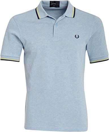 Fred Perry Men/'s Slim Fit Twin Tipped Polo Shirt