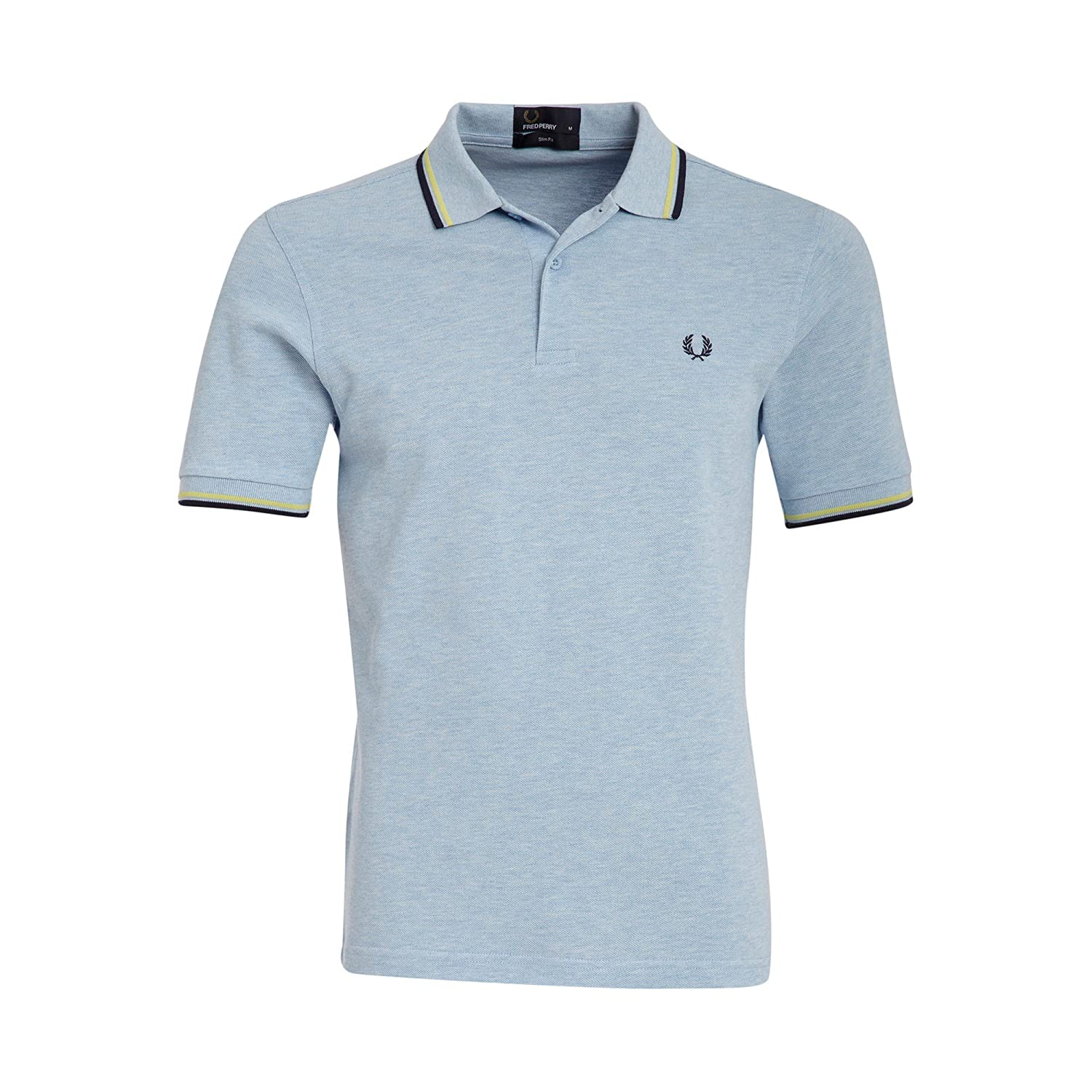 Amazon Fred Perry Twin Tipped Polo Shirt Summer Bluelimelight