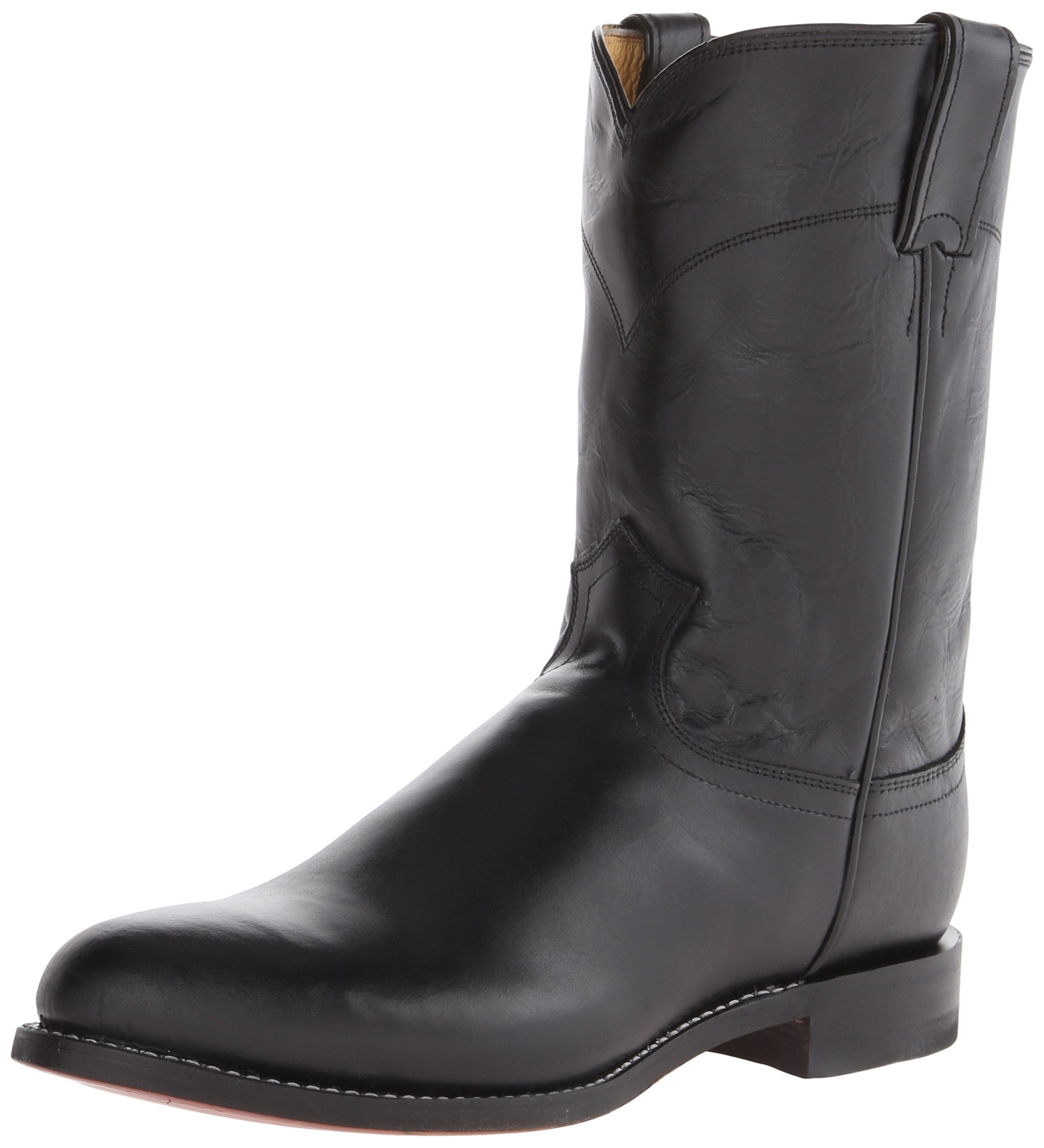 Justin Boots Men's Western Roper Boot,Black Kipskin,6 E US
