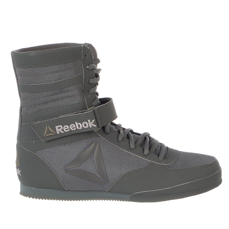 Reebok Men's Boot-Buck Boxing Shoe, Buck-Ironstone/Black, 8.5 M US