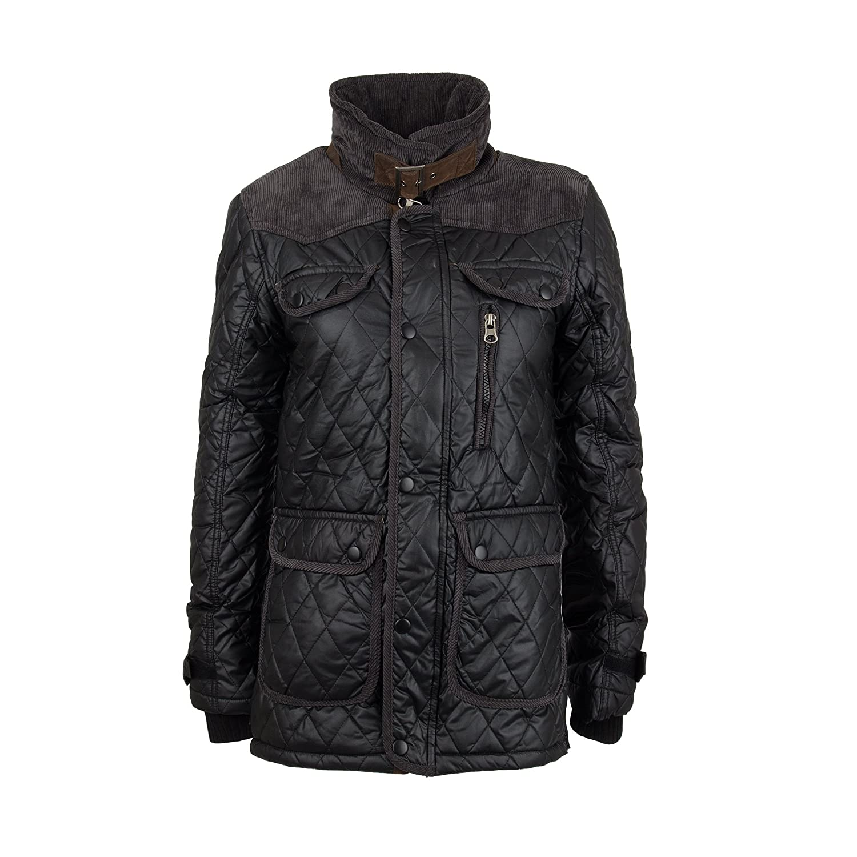 JACKET Men's DENIM Style Oiled GOV 887801 Fashion Man JACKET Black