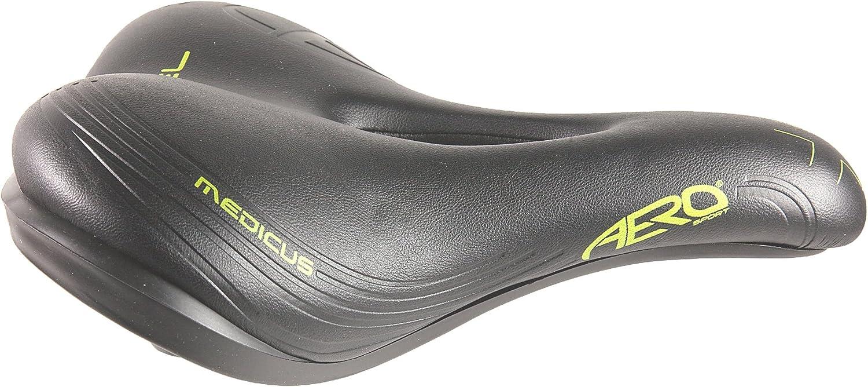 Aero Sport Citta Cyclisme Selle de course Femmes Gel Noir//vert