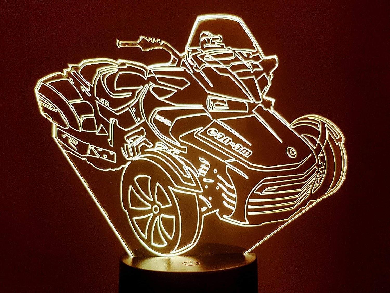 Lampe 3D Motif: Can-am
