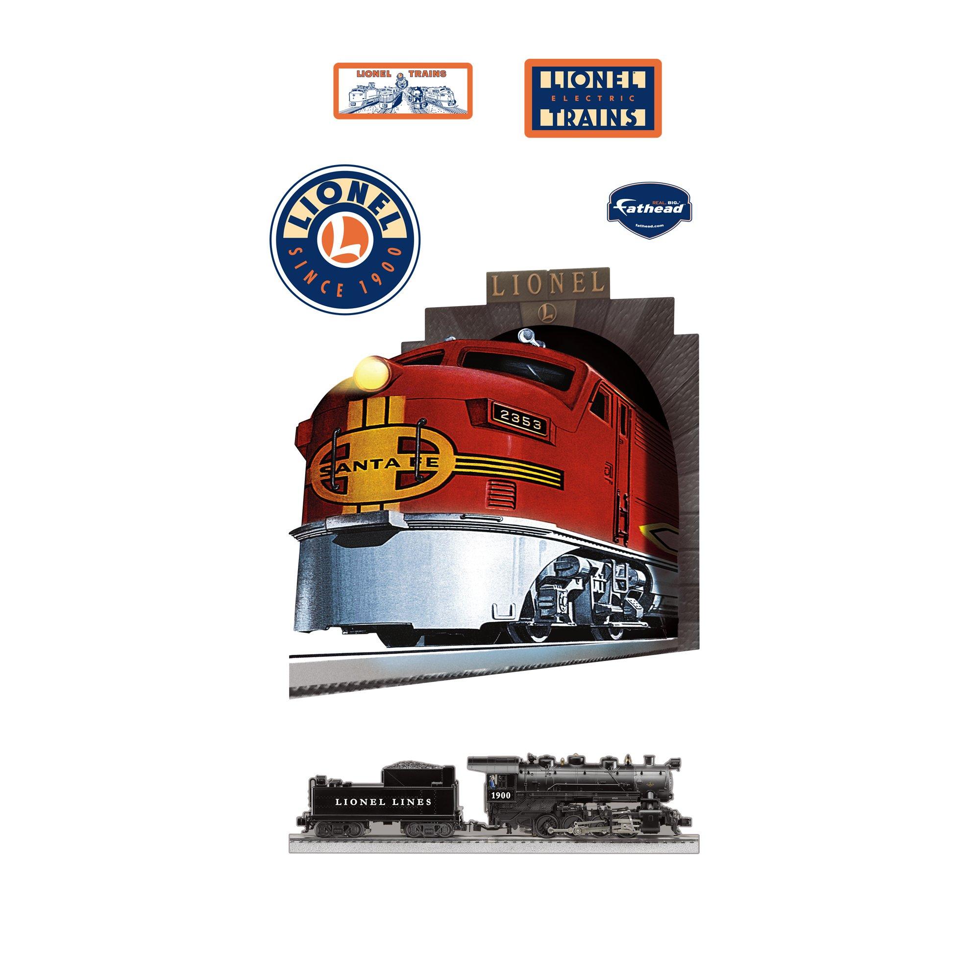 Lionel Trains Santa Fe Train Wall Graphic