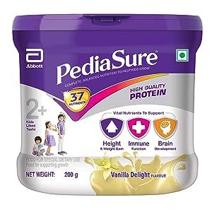 Pediasure Vanilla Delight 200g/7.05oz - Plastic Jar - For Kids 2 Years to 10 Years