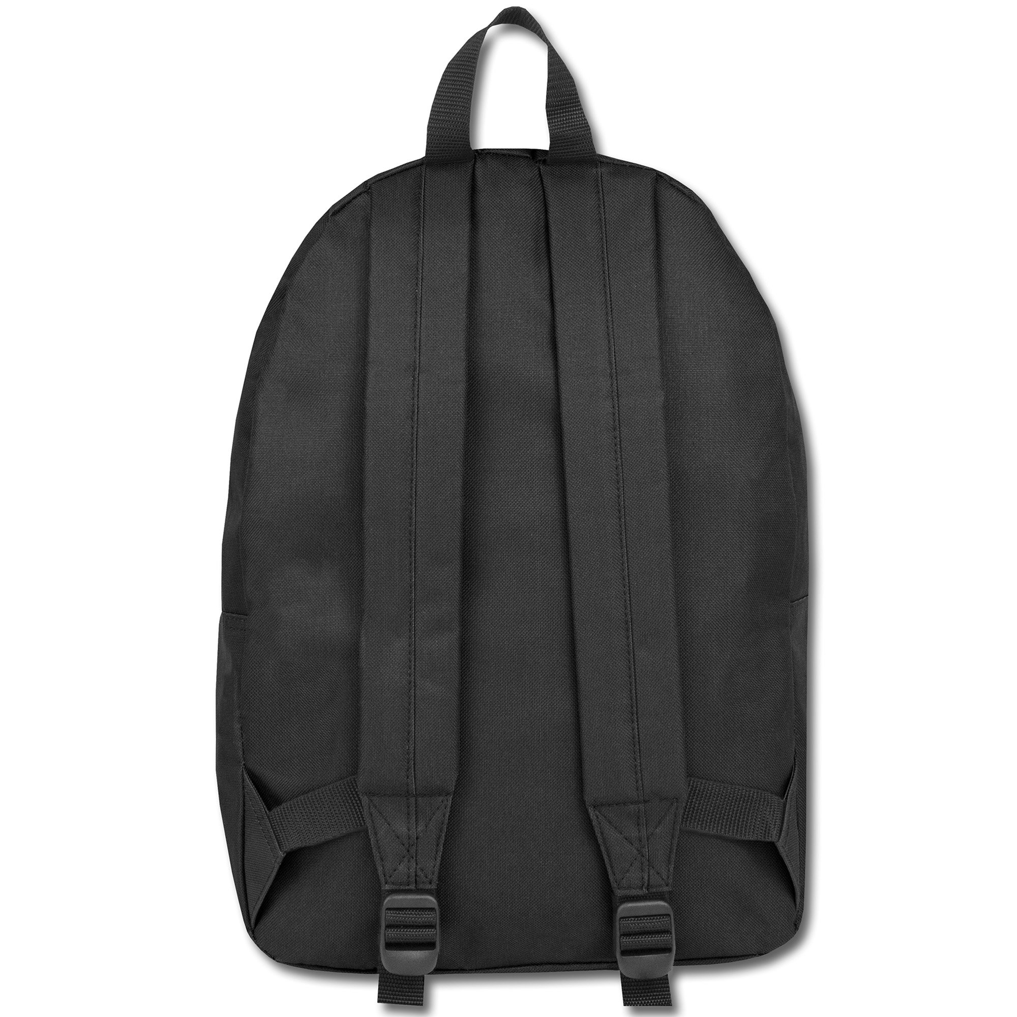 Classic Traditional Solid Backpacks with Adjustable Padded Shoulder Straps (Black) by Trail maker (Image #3)