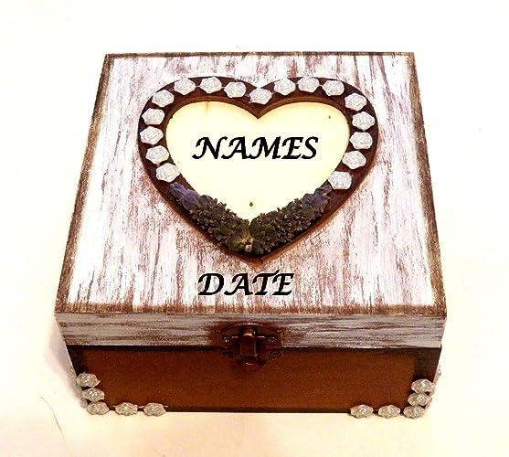 Caja Personalizada de Madera, Caja Madera Tarjetas, Baúl Regalo Boda, Cofre Personalizado,