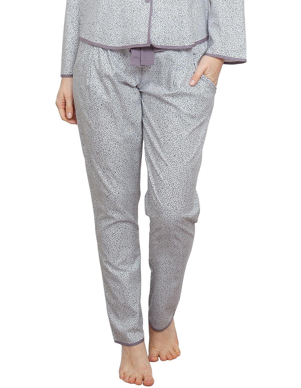 Cyberjammies 3773 Women's Sienna Grey Leaf Print Pajama Pyjama Pant