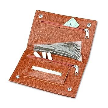 Amazon.com: PREMIUM Funda de piel bolsa para tabaco de pipa ...