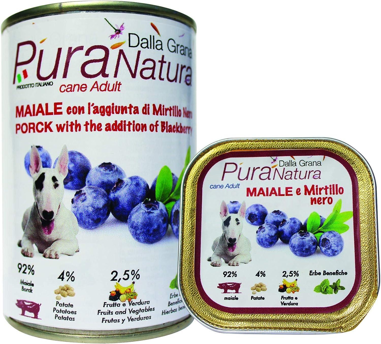Della Grana Pura natura alimento umido per cani con maiale e ...