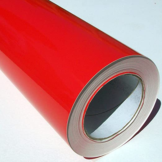 Metamark - Rollo de papel vinilo adhesivo (10 x 61 cm), color rojo brillante: Amazon.es: Hogar