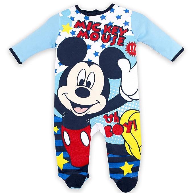 Disney Mickey Mouse Oh Boy, Pijama para Bebés, Azul (Blue) 12-24 Meses: Amazon.es: Ropa y accesorios