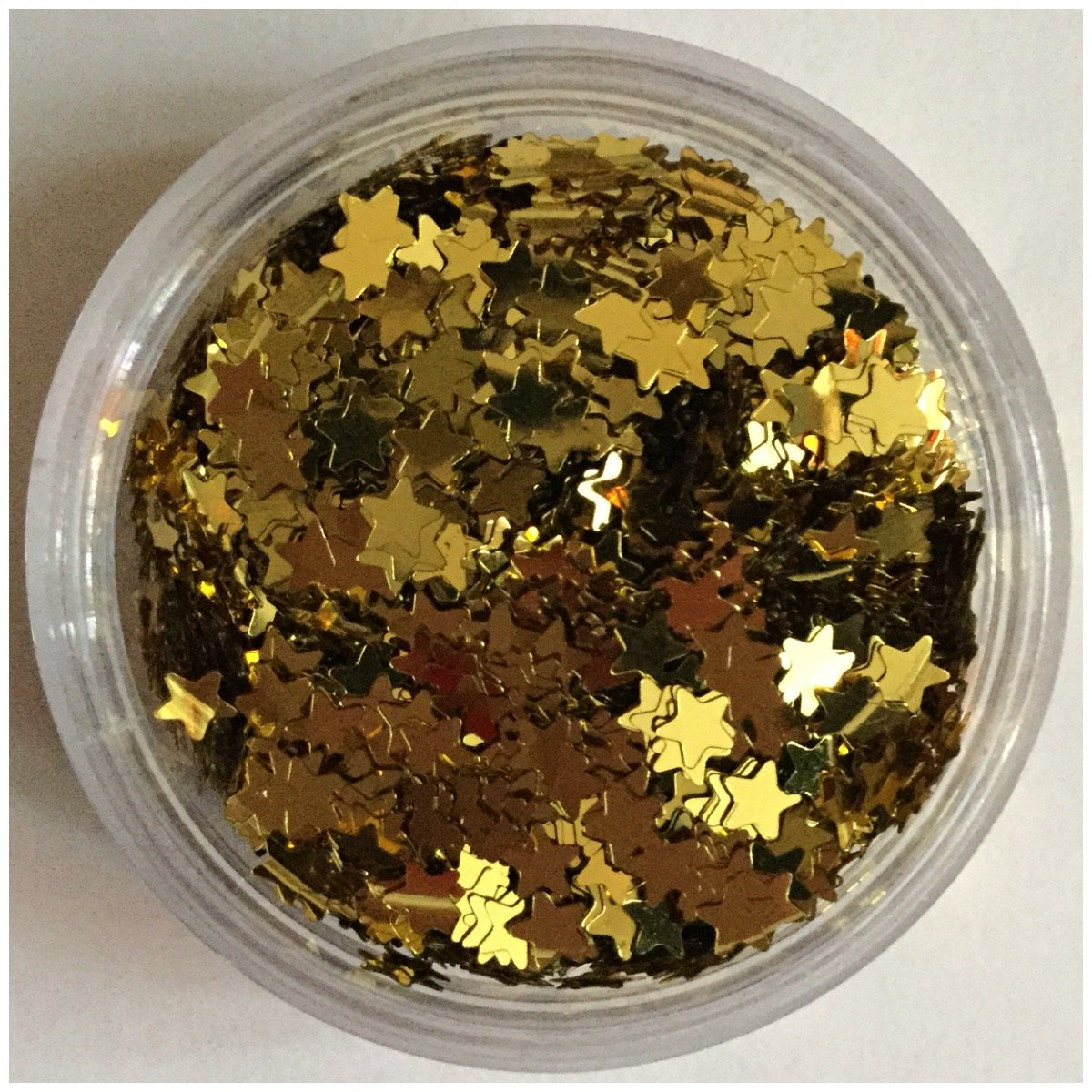 Loose Cosmetic Glitter Stars Holographic Silver, Silver, Gold for face, body, hair, nail and craft decoration (50g, Gold) Just4youonlineUK