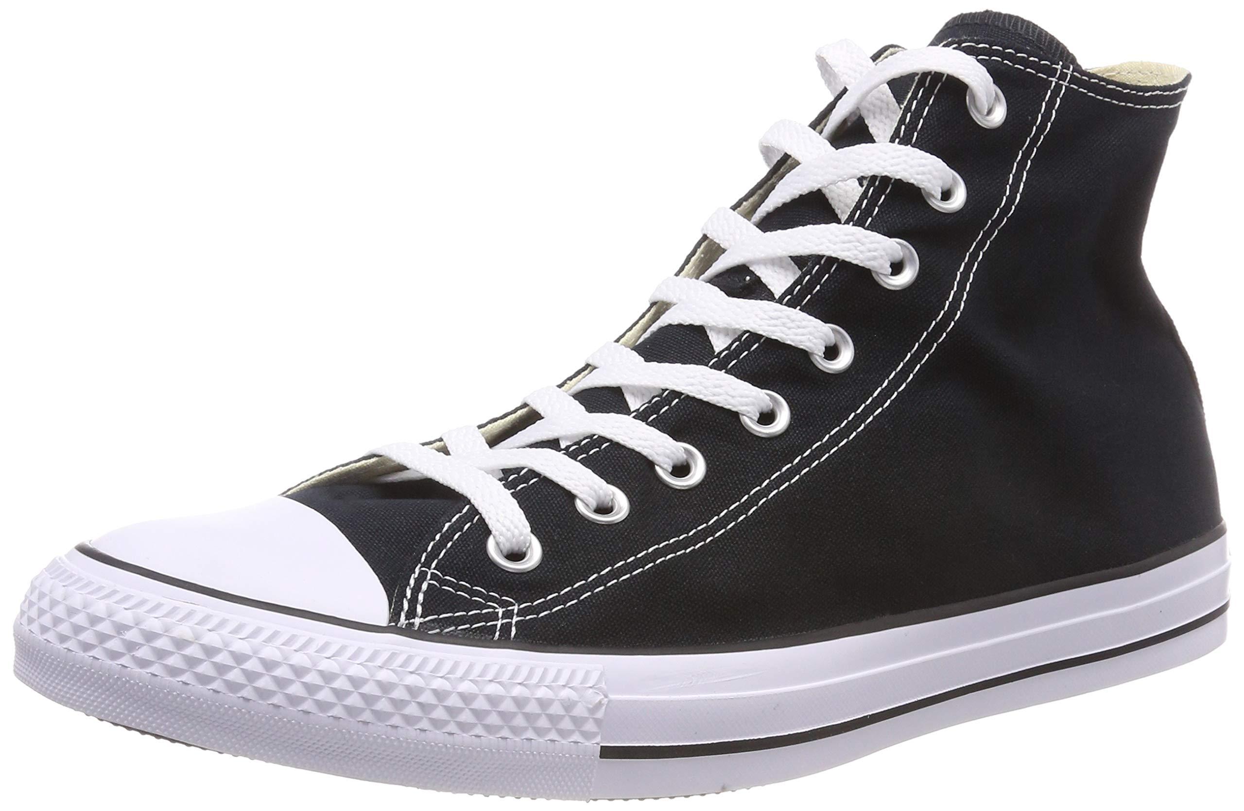 Converse Chuck Taylor All Star Canvas High Top Sneaker, Black, 9 US Men/11 US Women