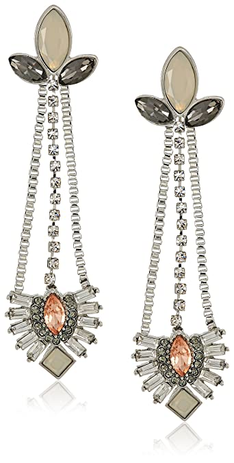 bd4ad0d26bc1 Amazon.com  GUESS Nude Metals Women s Linear Stone Post Drop Earrings