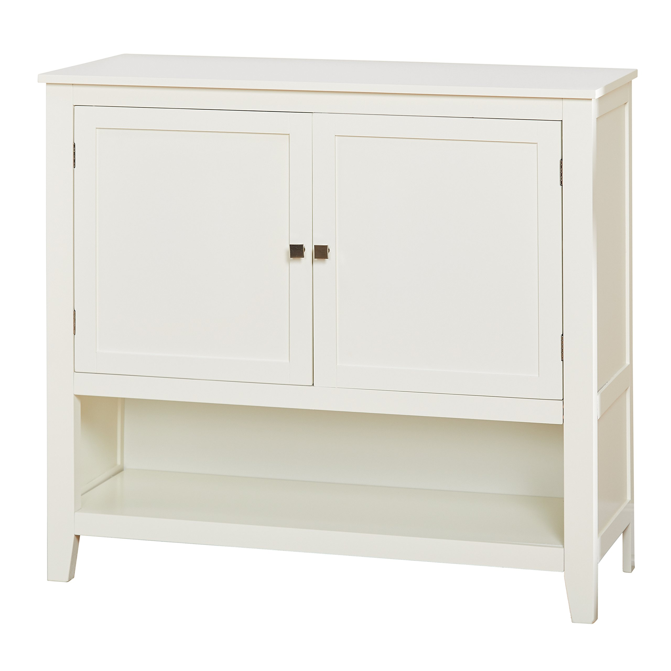 Target Marketing Systems 11001WHT Montego Collection Buffet Cabinet, Antique White