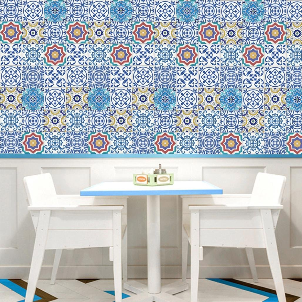 Amazon.com: Xiting Moroccan Style Mosaic Wallpaper Self Adhesive ...