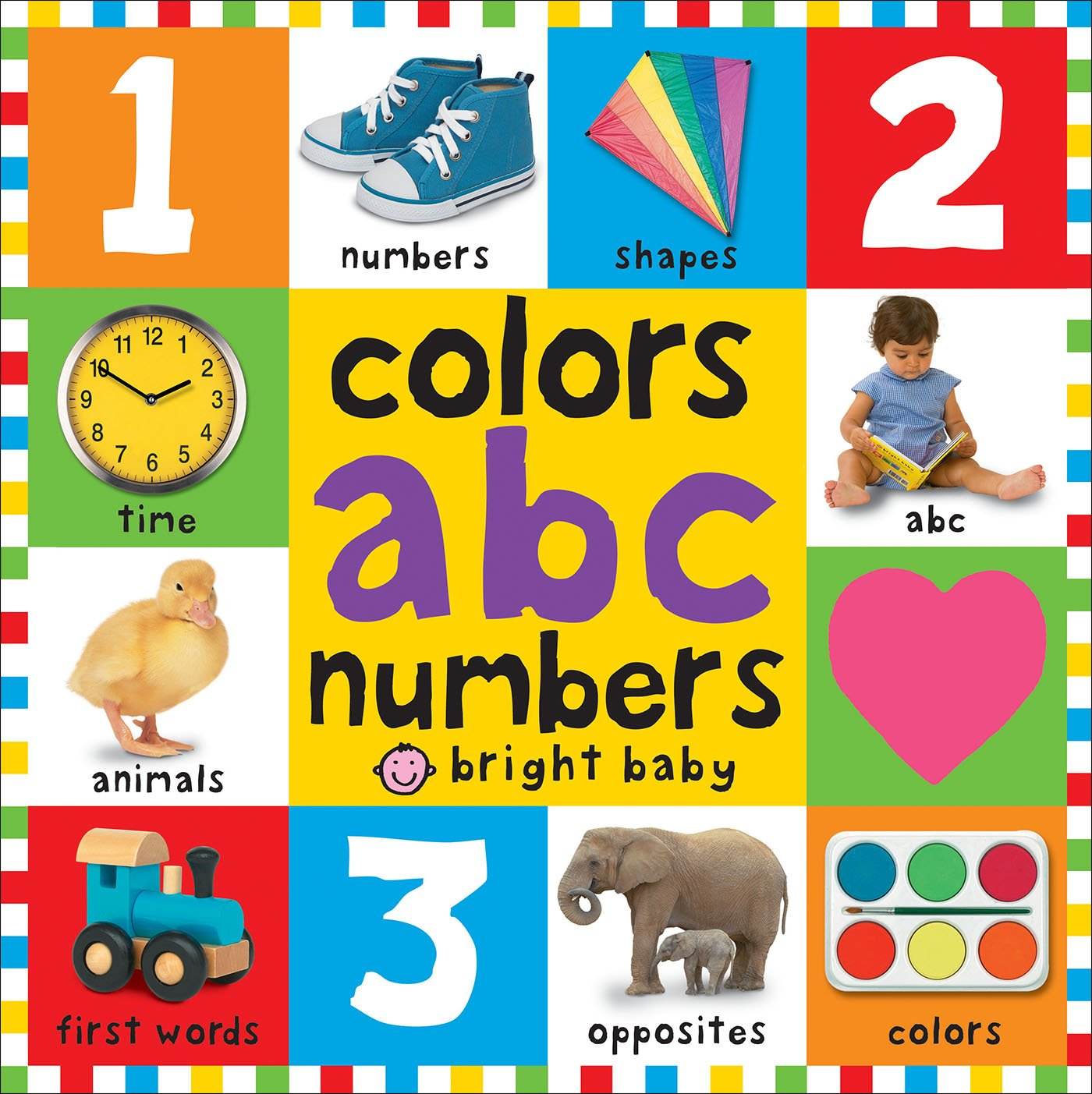 big board books colors abc numbers amazonca roger priddy books - Color Books For Toddlers