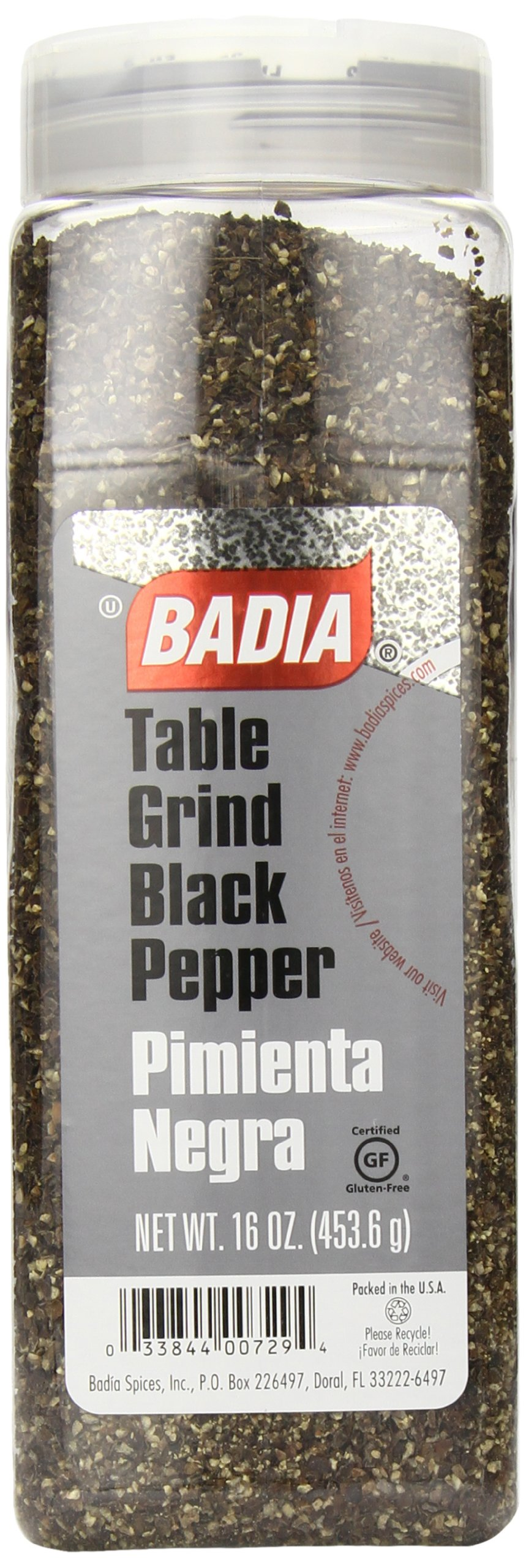 Badia Black Pepper Table Grind, 16 Ounce
