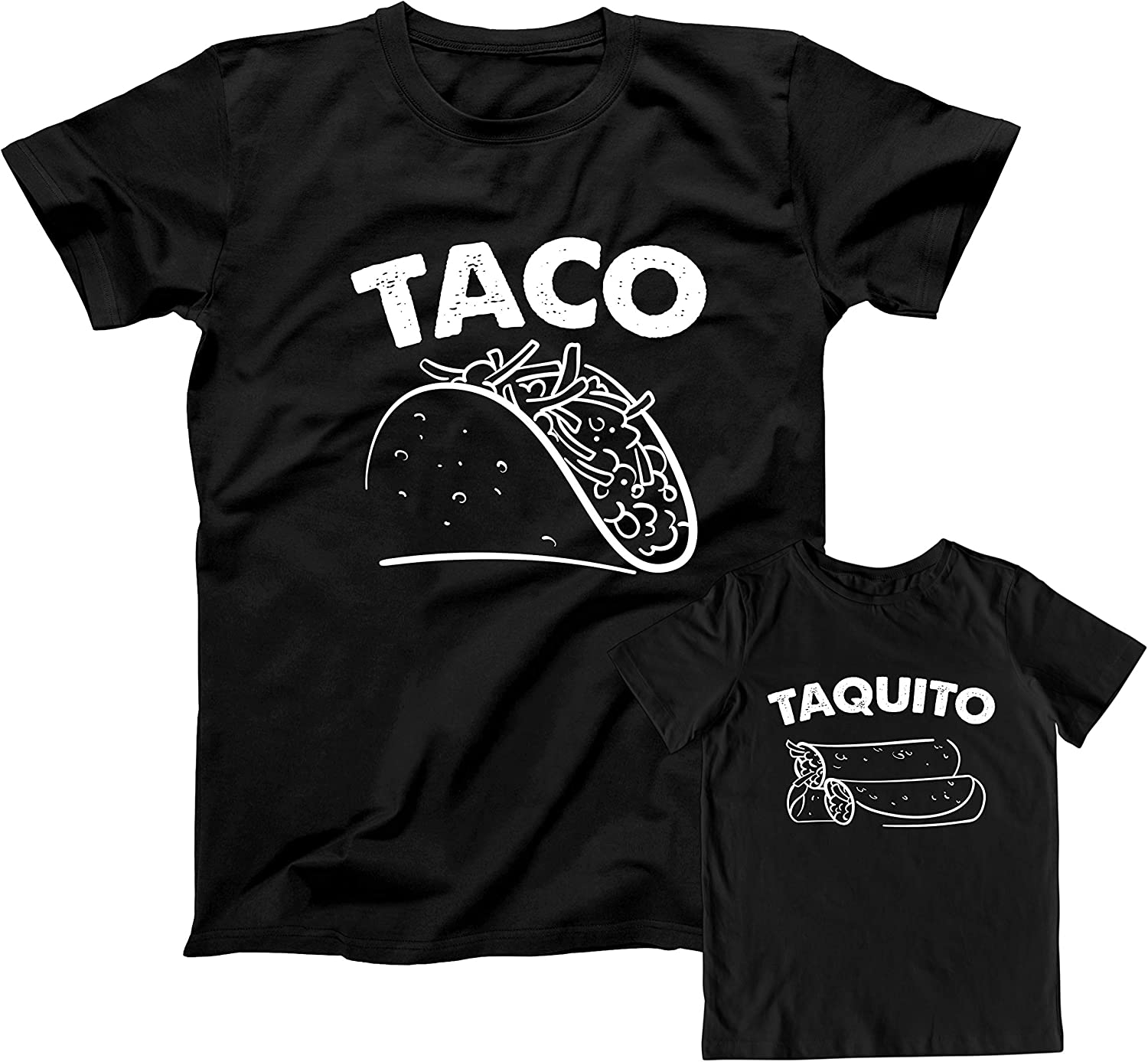 Teepinch Taco and Taquito Matching Family T-Shirt Sets for Father and Son Daddy Child Gifts TEP-977-978