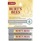 Burt's Bees Lip Balm Stocking Stuffer, Moisturizing Lip Care Holiday Gift, 100% Natural, Ulta Conditioning with Shea, Cocoa &
