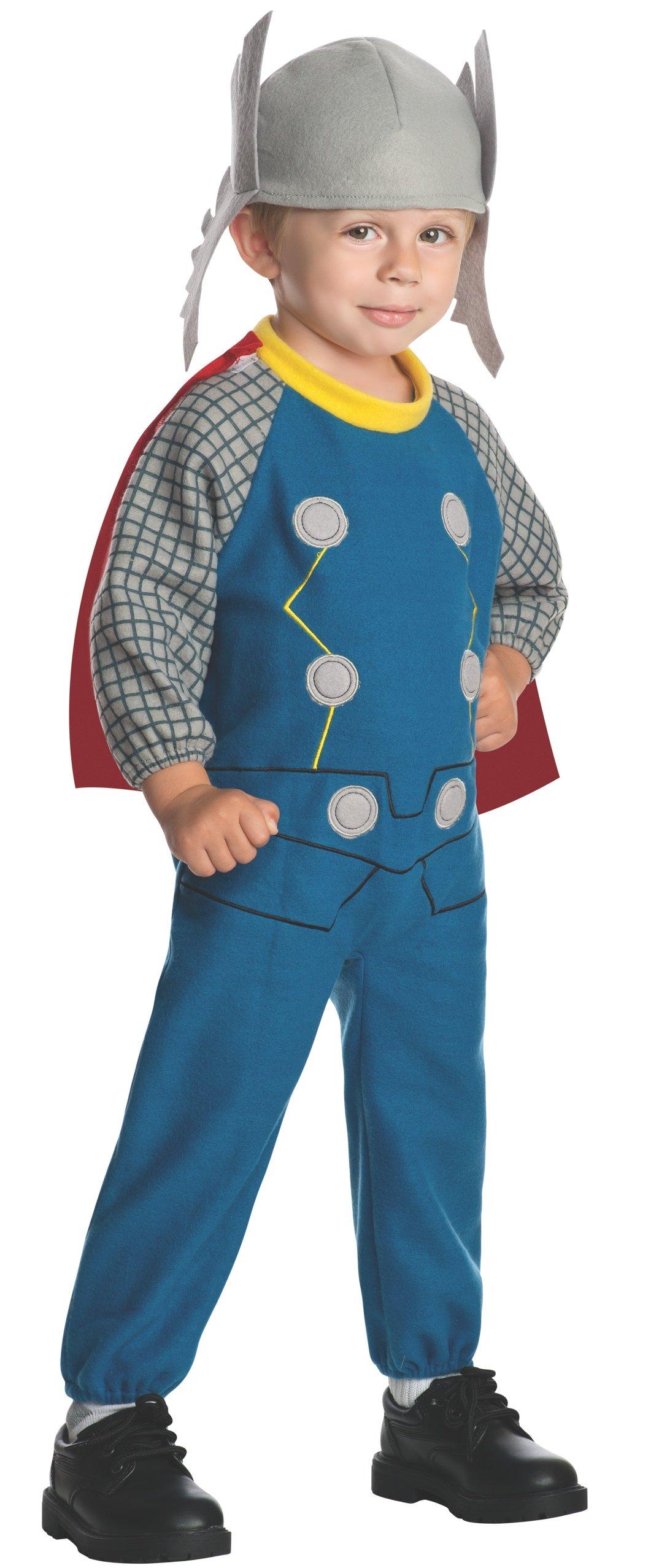 Marvel Rubie's Baby's Classics Avengers Assemble Fleece Thor Costume, Multi, Toddler