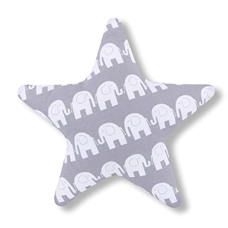 AMI Lian® Cojín Estrella elefante gris - Cojín (tejido de ...
