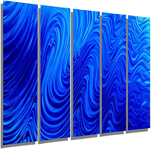 Statements2000 Giant Abstract Blue Metal Wall Art Sculpture
