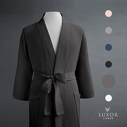 477fb83d92 Luxor Linens Waffle Weave Spa Bathrobe - Ciragan Collection - Luxurious