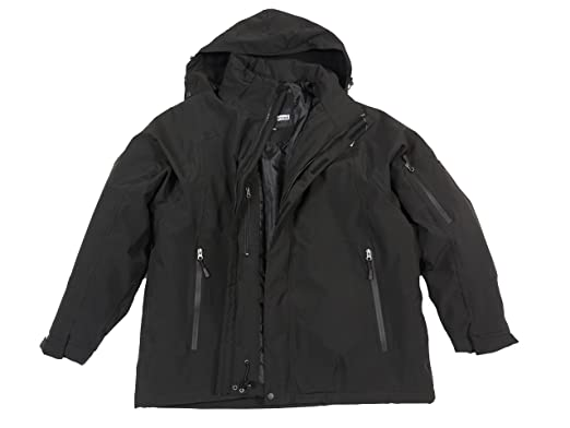 Schwarze 3in1 jacke von marc&mark